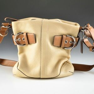 Vintage Coach Pebbled Leather Bucket Bag